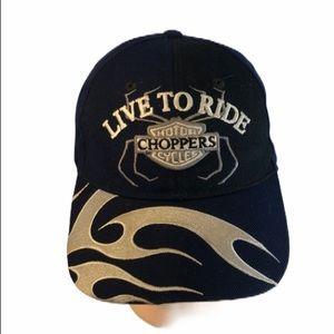 Live to Ride Choppers Baseball Hat